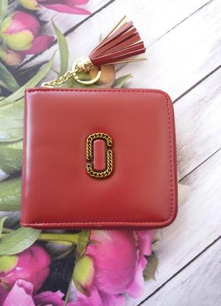 Кошелек на замку. небольшой кожаный бордовый гаманець жіночий ...
