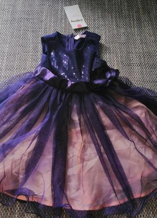 Новое нарядное платье на девочку глория джинс, рост 98см