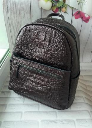 Женский кожаный рюкзак. шкіряний жіночий портфель сумка рюкзак...
