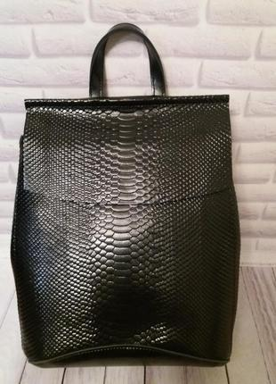 Женская кожаная сумка рюкзак кожаный из натуральной кожи шкіря...