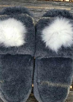 Женские тапочки для дома меховые тапки домашние