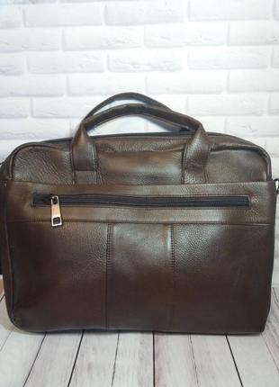 Кожаный портфель из натуральной кожи мужской чоловічий шкірянт...