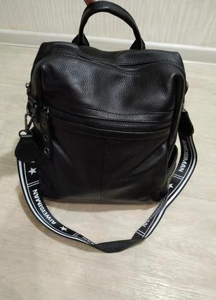Кожаный женский рюкзак из натуральной кожи жіночий шкіряний по...