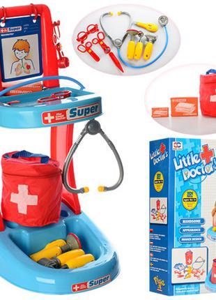 Доктор 63008 тележка, сумка, очки, рентген, инструменты, в кор...