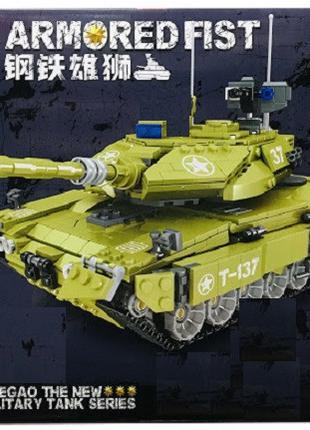 """Конструктор ZheGao QL0137 """"Военный танк"""" 1277 деталей"""