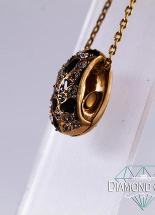 Подвеска / напыление из золота + камни сваровски