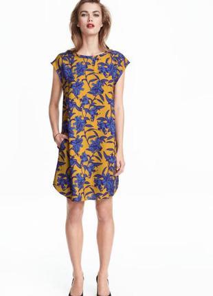 Платье h&m в цветочный принт