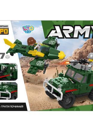 """Конструктор Limo Toy KB 098 """"Военный джип и самолет"""" 207 деталей"""