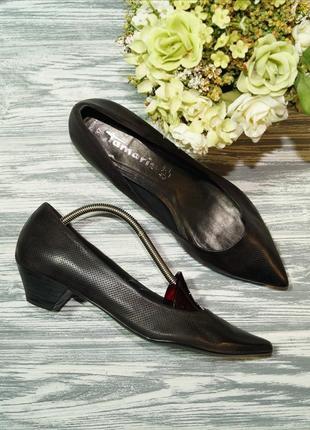 🌿бесплатная доставка 🌿37🌿 tamaris. кожа. фирменные туфли на уд...