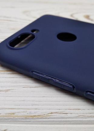 Силиконовый противоударный чехол xiaomi redmi 6 + pro темно-синий