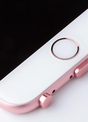 Заглушки для телефона iphone 5/6 plus защита от пыли rose gold