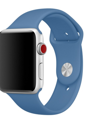 Браслет ремешок силиконовый для apple watch 38mm denim blue
