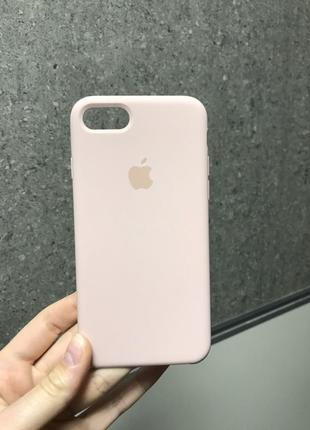 Чехол для iphone 7plus / 8 plus pink sand пудровый