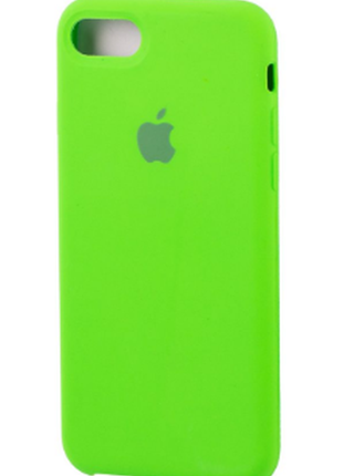 Яркий силиконовый чехол silicone case, soft touch для iphone 7...
