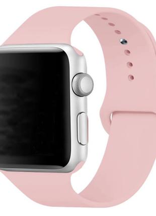Браслет ремешок силиконовый для apple watch 38/40 mm. пудра, н...