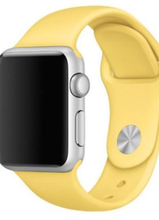 Ремешок силиконовый для apple watch 42mm. yellow желтый