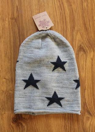 Унисекс красивая тонкая шапка в звезды falk