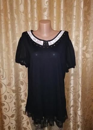🌺🎀🌺красивая женская черная блузка, футболка, кофта с коротким ...