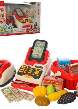 Детский игровой кассовый аппарат 668-51 со сканером и деньгами