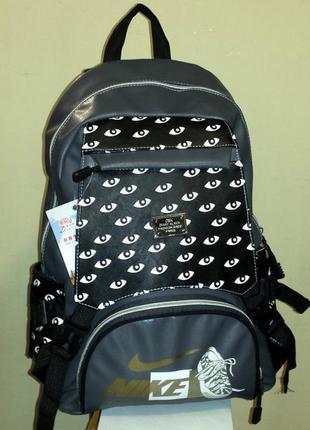 Рюкзак из искусственной кожи nike (серый)