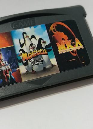 Игровой картридж для GAME BOY ADVANCE GB 3 in 1 Mortal Kombat+...