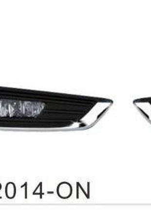 Дополнительные фары, доп фары, модель Ford Focus Sedan 2014-/F...