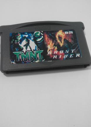 Игровой картридж для GAME BOY ADVANCE GB 2 in 1 TMNT +Ghost Rider