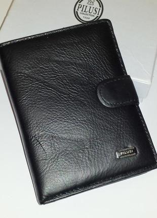Мужское портмоне pilusi 302b из натуральной кожи