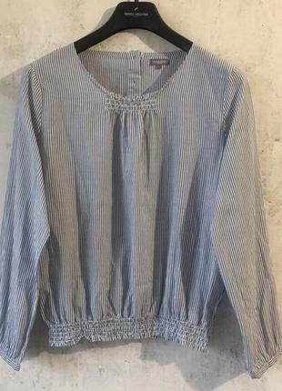 Хлопковая блуза в полоску, 100% биохлопок, качество, naturaline