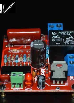 Выключатель 220В маломощной кнопкой без фиксации