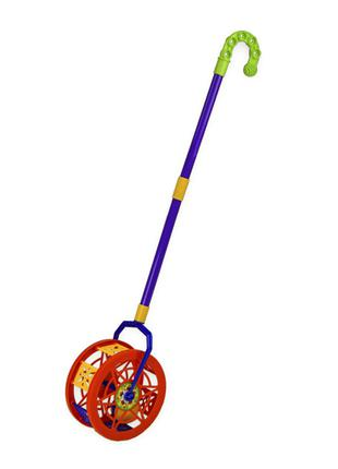 Детская каталка-колесо 777-8 длина ручки-43см (Красный)