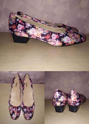 Туфли 43-44 р trotters цветочный