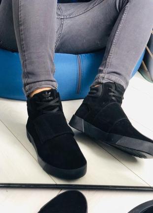 Lux обувь! натуральные замшевые зимние кожаные мужские ботинки