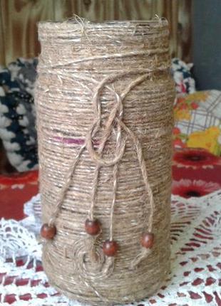 Хендмейд ваза  -креативное украшение в бохостиле