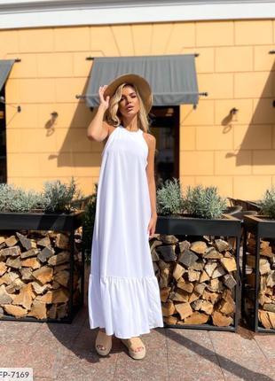 Длинное белое платье,белый сарафан