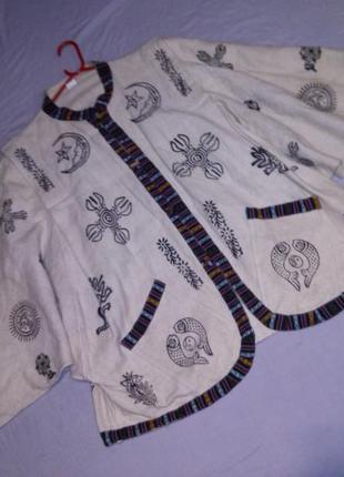 Натурал-100%коттон,куртка-жакет-кардиган в этно- бохо стиле,с ...
