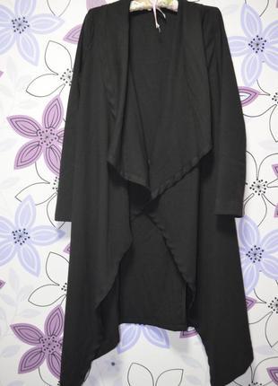 Черное платье-халат от  с глубоким разрезом (турция),2хл