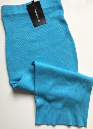 Тёплая юбка резинка, в рубчик, длина midaxy