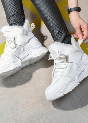 Зимние ботинки на меху женские