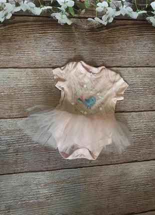 Бодик юбка фатин для девочки