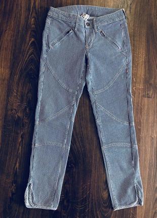 Джинсы штаны брюки в полоску