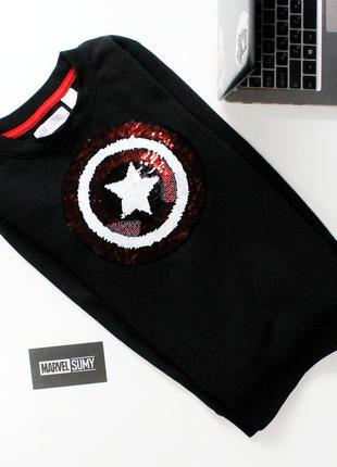 "Детский свитер ""captain america/spider - man marvel. капитан а..."