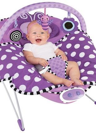 Детский шезлонг sassy cuddle bug bouncer кресло качалка
