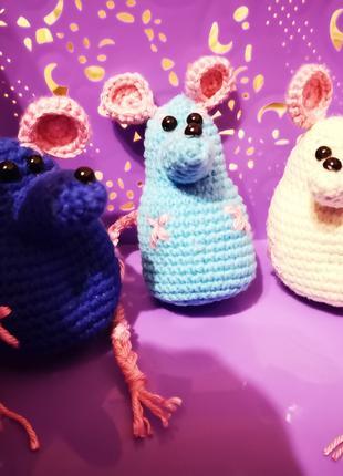 Вязаная мышка, мышка ручной работы, mouse handmade, символ 2020