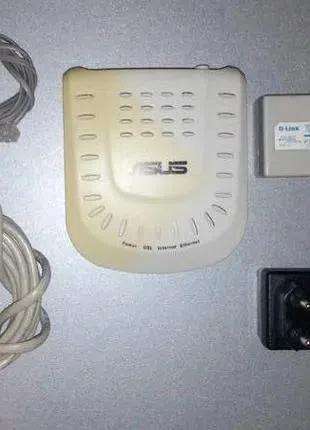 ADSL Модем ASUS DSL-X11 (ADSL Router) +блок питания 5V 1A (5В 1А)