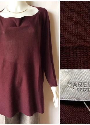Новый джемпер, свитер, кофта marella оверсайз со снудом