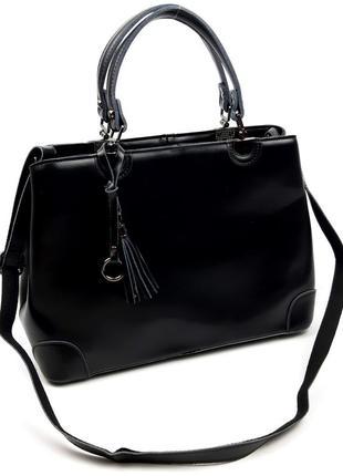 Женская сумка из натуральной кожи черная