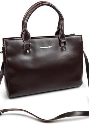 Женская кожаная большая сумка michael kors коричневая