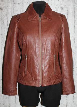 Стильная кожаная куртка 100% натуральная кожа наппа