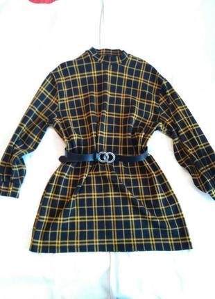 Стильна сукня туніка прямого крою з геометричним принтом